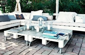 White Garden Chair & Coffee Table